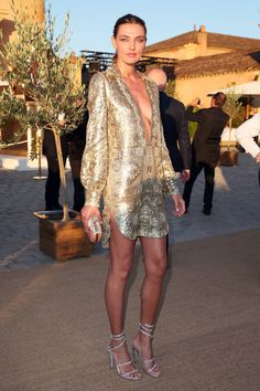 Leo DiCaprio hosted a gala in St. Tropez and celebs dressed to the nines. See all the fabulous looks now!