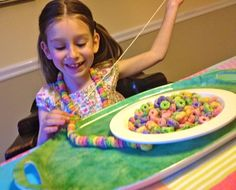 boredom buster using items from the pantry -- great fine motor practice too #kids #crafts