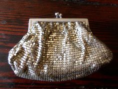 Vintage Duramesh Clutch Silver Metal Mesh Change by MartiniMermaid, $25.00