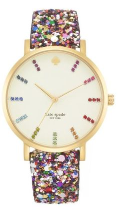 fashion, cloth, accessori, glitter time, kate spade glitter watch, kate spade watches, closet, kate spade watch glitter, katespade