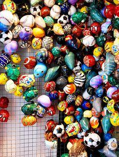 Painted hermit crab shells  #hermitcrabs