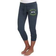 Seattle Seahawks Ladies Fourth Down Tri-Blend Capri Pants - College Navy