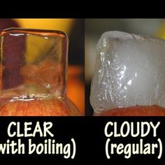 remember this, clear ice, ice cubes, tap water, herb, food, drink, boil water, parti