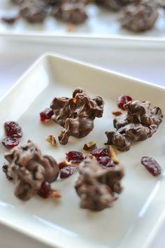 Chocolate Clusters with Fruit and Nuts