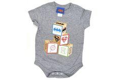 Baby Gift Idea - Superhero Block Onesie