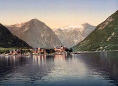 Balholm from the fjord, Sognefjord, Norway