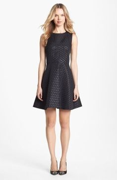 Vince Camuto Dot Pattern Party Dress | Nordstrom