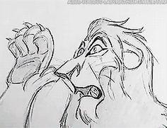 disney gif, concept art, animation gif disney, lion king scar, pixar, disney animation, disney films, anim art, 2d anim