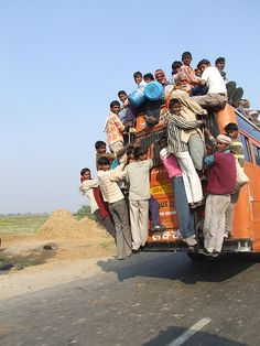 That's a crowded commute!