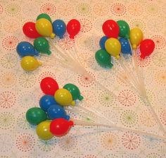 cupcake balloon toppers