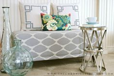 The Chronicles of Home: DIY Upholstered Bench with Nailhead Trim