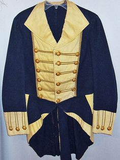 RARE Antique Connecticut Continental Army Hand Sewn Military Uniform Coatee | eBay