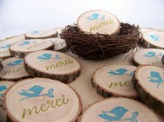 Wedding  Favor Magnets  Thank You Merci    50 by MonkeysOnTheRoof, $75.00