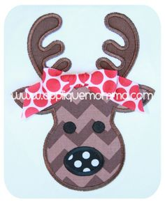 Reindeer 2 Applique Design