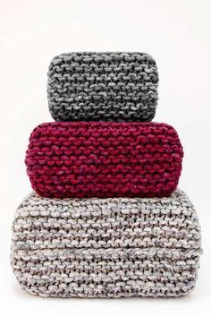 Could i knit these? Pouf CUBO S - Wohnen mit Strick - Wohnaccessoires von meshmade