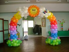 rainbow archway...maybe a less fancy version.