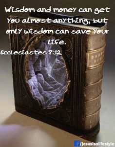 Wisdom is a shelter as money is a shelter, but the advantage of knowledge is this: Wisdom preserves those who have it. (Ecclesiastes 7:12 NIV)