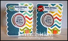 Altered Scrapbooking: Chevron Birthday Flip-It Trio