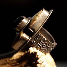 Savage Chieftain Ring Jasper Stones Set by SavageBonesAndStones