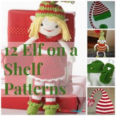 Elf on a Shelf Has Stolen My Yarn! - Free crochet patterns and knitting patterns, too.