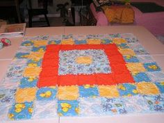Keep warm on the coldest of nights with a classic rag quilt pattern designed after the Nathaniel Rag Quilt.