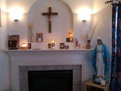 Catholic home altar.