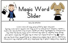 FREE Magic Word Slider