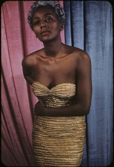 Joyce Bryant, gown by Zelda Wynn Valdez, 1955