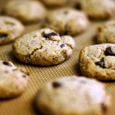 Choc chip almond flour cookies