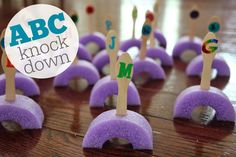 Toddler Approved!: Alphabet Knock Down
