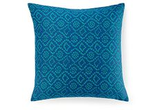 Ice 20x20 Cotton Pillow, Blue on OneKingsLane.com