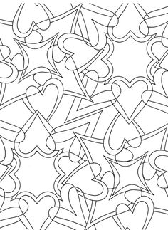 zentangles to color, pattern, heart color, coloring sheets