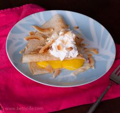 Passion Fruit Crepes with Toasted Coconut and Bourbon Vanilla Whipped Cream   Betsylife