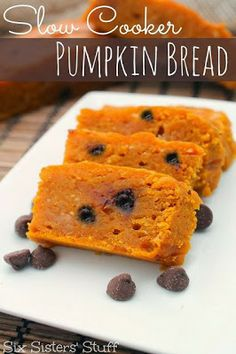 "Slow Cooker Pumpkin Bread is an easy holiday treat that's ""baked"" in the slow cooker!"