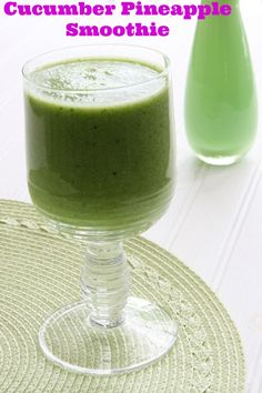 Cucumber Pineapple Smoothie - Makes 2 Smoothies. From Ingredients Inc.