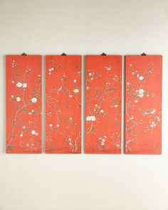 Love this floral panel