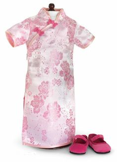 Mandarin Chinese Cheongsam Shoes for American Girl Apryl's Doll Clothes Pink | eBay