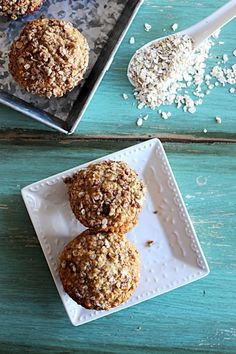 Applesauce Oatmeal Muffins | Dine and Dish