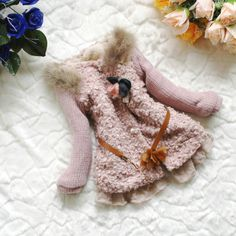 NEW YEAR CHRISTMAS baby girl clothes winter coat kids pink jacket gown 4-6t. $28.99, via Etsy.
