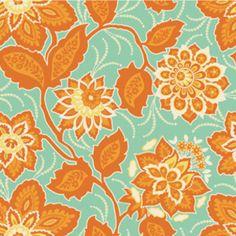 Joel Dewberry - Heirloom Voile - Ornate Floral in Amber