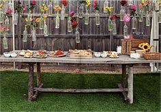Rustic Hanging Floral Arrangements
