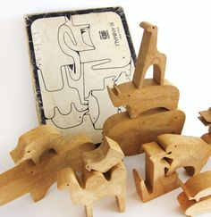 vintage enzo mari animal puzzle