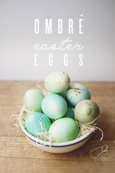 ombre easter eggs w/ gold