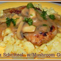 Pork Schnitzel w/Mushroom Gravy