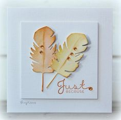Just Because card by Birgit