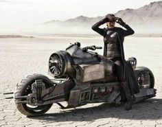 Steampunk motorcycle mutant vehicle out on the Playa. Burning Man is a source of creativity for so many people.