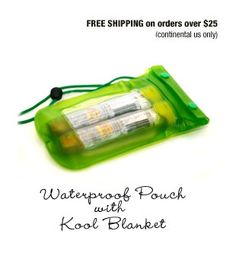 Waterproof Pouch and Kool Blanket
