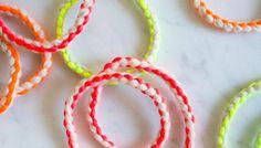 Cashmere + Neon Friendship Bracelets | The Purl Bee