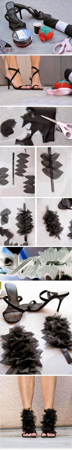 Add Beautiful Petals to High Heels