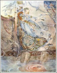 Illustration by Sulamith Wulfing from Hans Christian Andersen's 'The Little Mermaid'